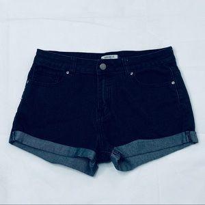 FOREVER 21 Denim Jean Shorts 28 High Waist Stretch
